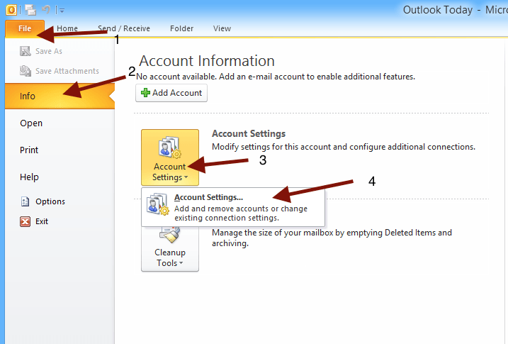 how to change outgoing mail server on outlook